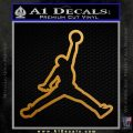 Air Jordan Jumpman Outline Decal Sticker Metallic Gold Vinyl 120x120