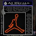 Air Jordan Jumpman Outline Decal Sticker Orange Vinyl Emblem 120x120
