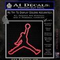 Air Jordan Jumpman Outline Decal Sticker Pink Vinyl Emblem 120x120