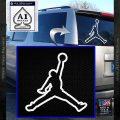Air Jordan Jumpman Outline Decal Sticker White Vinyl Emblem 120x120