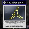 Air Jordan Jumpman Outline Decal Sticker Yellow Vinyl 120x120