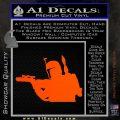 Alien DBF B5 Decal Sticker Orange Vinyl Emblem 120x120