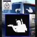 Alien DBF B5 Decal Sticker White Vinyl Emblem 120x120