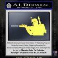 Alien DBF B5 Decal Sticker Yellow Vinyl 120x120