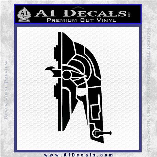Alien DBF Slave 1 Ship Decal Sticker Black Vinyl Logo Emblem