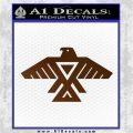 Anishinabe Tribal Eagle Decal Sticker Brown Vinyl 120x120