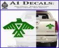 Anishinabe Tribal Eagle Decal Sticker Green Vinyl 120x97
