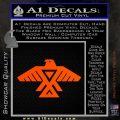 Anishinabe Tribal Eagle Decal Sticker Orange Vinyl Emblem 120x120