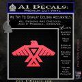 Anishinabe Tribal Eagle Decal Sticker Pink Vinyl Emblem 120x120