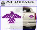 Anishinabe Tribal Eagle Decal Sticker Purple Vinyl 120x97