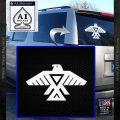 Anishinabe Tribal Eagle Decal Sticker White Vinyl Emblem 120x120