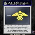 Anishinabe Tribal Eagle Decal Sticker Yellow Vinyl 120x120