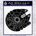 Century Saucer D1 Decal Sticker Space Battle Spaceship Black Vinyl Logo Emblem 120x120