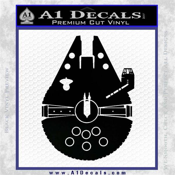 Century Saucer Spaceship Decal Sticker D2 Black Vinyl Logo Emblem
