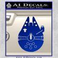 Century Saucer Spaceship Decal Sticker D2 Blue Vinyl 120x120