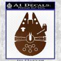 Century Saucer Spaceship Decal Sticker D2 Brown Vinyl 120x120
