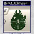Century Saucer Spaceship Decal Sticker D2 Dark Green Vinyl 120x120