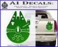 Century Saucer Spaceship Decal Sticker D2 Green Vinyl 120x97