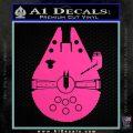 Century Saucer Spaceship Decal Sticker D2 Hot Pink Vinyl 120x120
