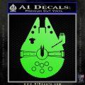 Century Saucer Spaceship Decal Sticker D2 Lime Green Vinyl 120x120