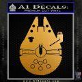 Century Saucer Spaceship Decal Sticker D2 Metallic Gold Vinyl 120x120