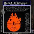 Century Saucer Spaceship Decal Sticker D2 Orange Vinyl Emblem 120x120