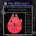 Century Saucer Spaceship Decal Sticker D2 Pink Vinyl Emblem 120x120