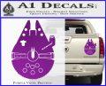 Century Saucer Spaceship Decal Sticker D2 Purple Vinyl 120x97
