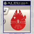 Century Saucer Spaceship Decal Sticker D2 Red Vinyl 120x120