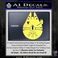 Century Saucer Spaceship Decal Sticker D2 Yellow Vinyl 120x120