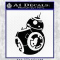 Droid Space Battle D3 Decal Sticker Robot Black Vinyl Logo Emblem 120x120