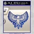 Eagle Decal Sticker Freedom Blue Vinyl 120x120