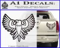 Eagle Decal Sticker Freedom Carbon Fiber Black 120x97