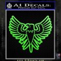 Eagle Decal Sticker Freedom Lime Green Vinyl 120x120