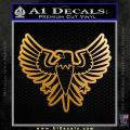 Eagle Decal Sticker Freedom Metallic Gold Vinyl 120x120