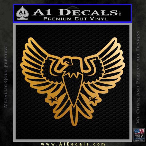 Eagle Decal Sticker Freedom Metallic Gold Vinyl