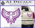 Eagle Decal Sticker Freedom Purple Vinyl 120x97