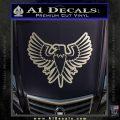 Eagle Decal Sticker Freedom Silver Vinyl 120x120