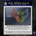 Eagle Decal Sticker Freedom Sparkle Glitter Vinyl Sparkle Glitter 120x120