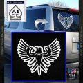 Eagle Decal Sticker Freedom White Vinyl Emblem 120x120