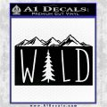 Hiking Camping WILD Decal Sticker Outdoors Black Vinyl Logo Emblem 120x120