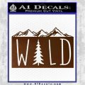 Hiking Camping WILD Decal Sticker Outdoors Brown Vinyl 120x120