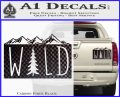Hiking Camping WILD Decal Sticker Outdoors Carbon Fiber Black 120x97