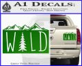 Hiking Camping WILD Decal Sticker Outdoors Green Vinyl 120x97