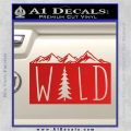Hiking Camping WILD Decal Sticker Outdoors Red Vinyl 120x120