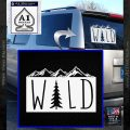 Hiking Camping WILD Decal Sticker Outdoors White Vinyl Emblem 120x120