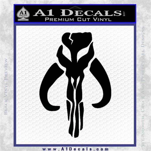 Mythodyno Alien DBF Banda Skull Decal Sticker Black Vinyl Logo Emblem