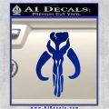 Mythodyno Alien DBF Banda Skull Decal Sticker Blue Vinyl 120x120