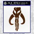 Mythodyno Alien DBF Banda Skull Decal Sticker Brown Vinyl 120x120