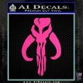 Mythodyno Alien DBF Banda Skull Decal Sticker Hot Pink Vinyl 120x120